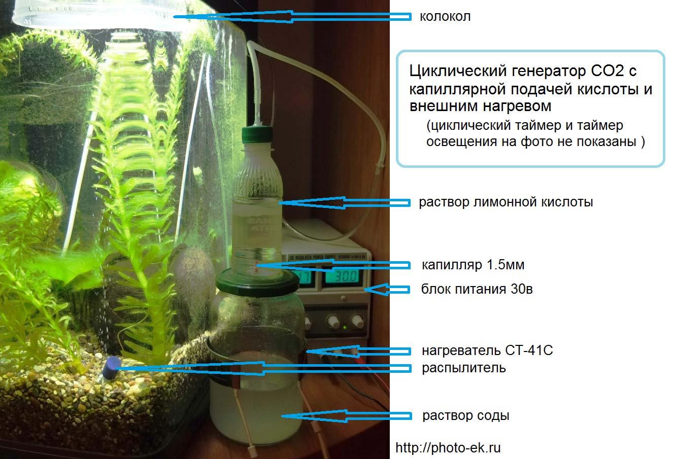 Генератор со для аквариума своими руками
