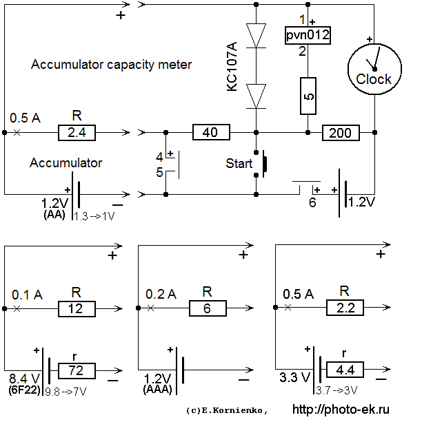 Accu Capacity En on nimh battery charger circuit